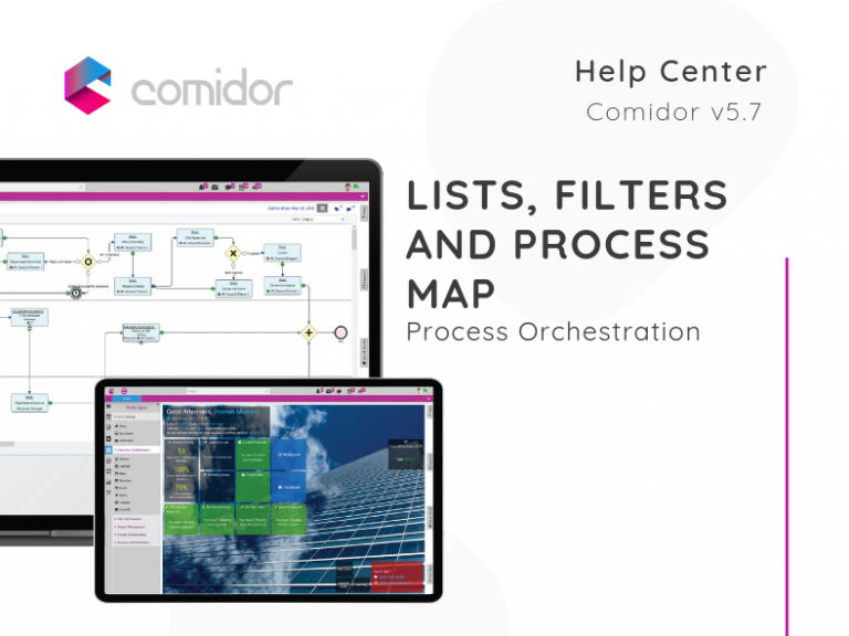 Lists, Filters and Process Map | Project Management | Comidor Low-Code BPM