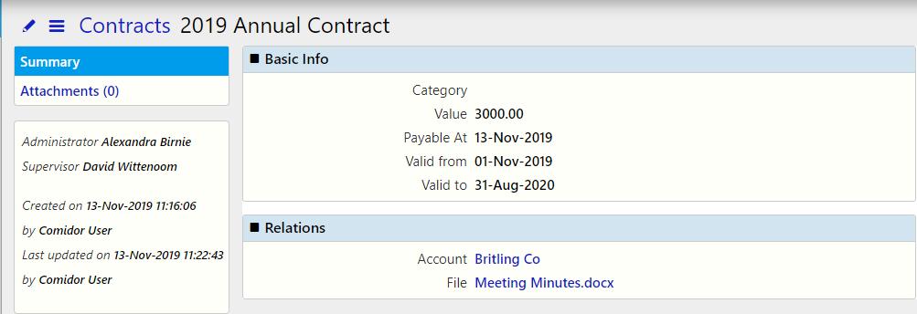 Contracts / Comidor Digital Automation Platform