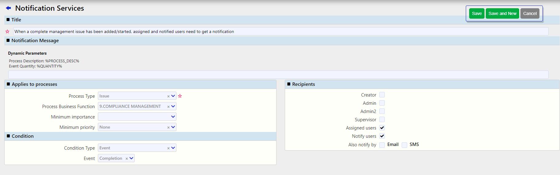 notifications services/ Comidor Digital Automation Platform