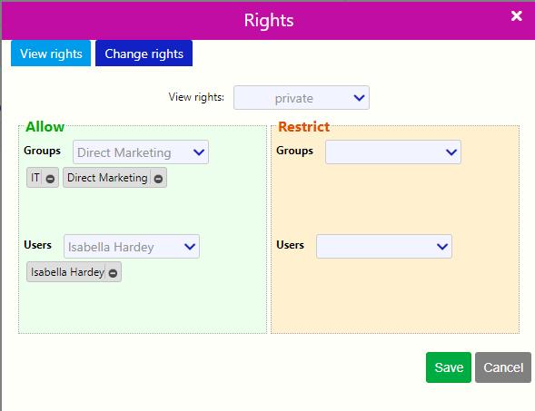 Rights / Comidor Digital Automation Platform