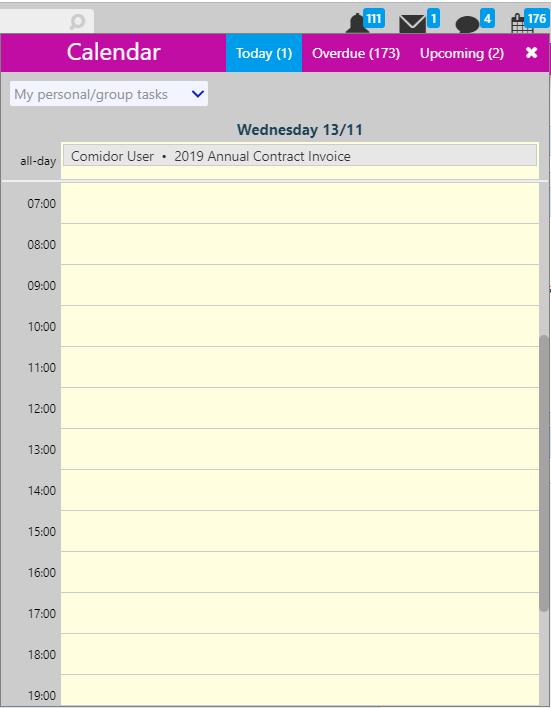 calendar / Comidor Digital Automation Platform