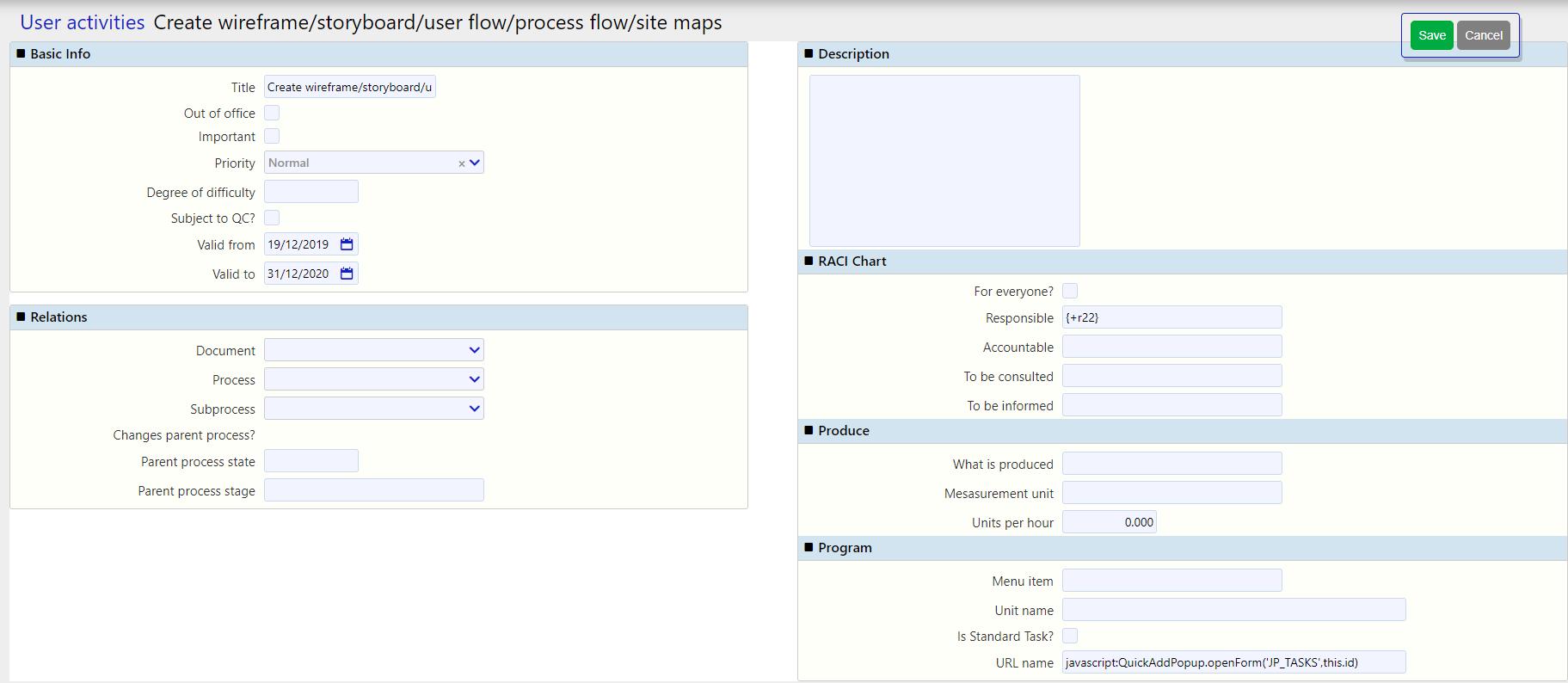 user activities / Comidor Digital Automation Platform