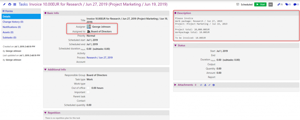 invoicing plan/comidor low-code bpm platform