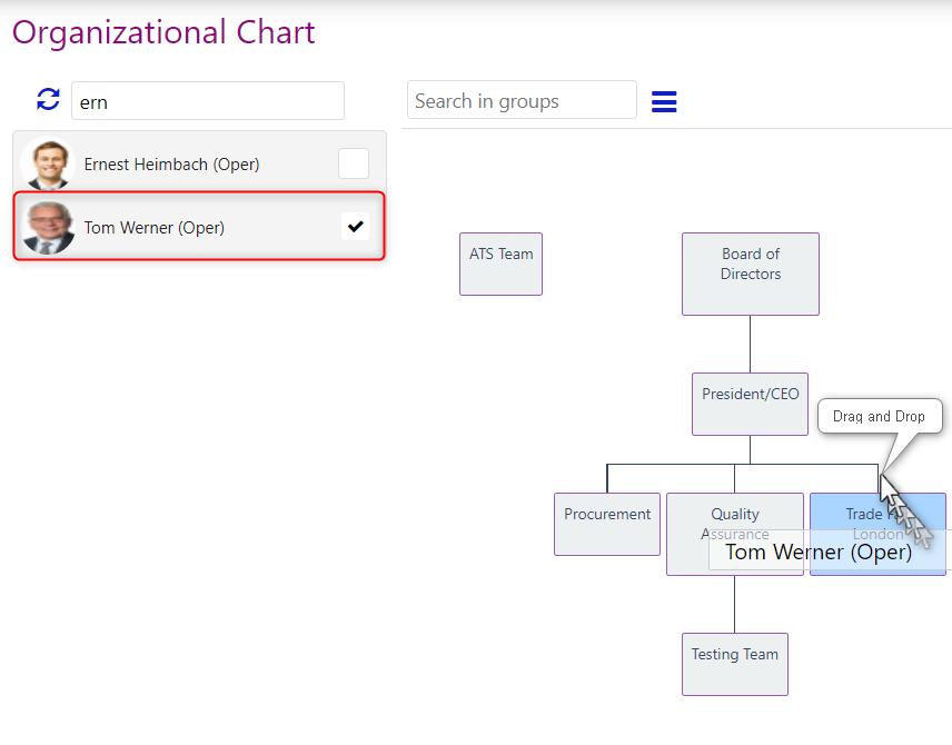 organizational chart/comidor low-code bpm platform