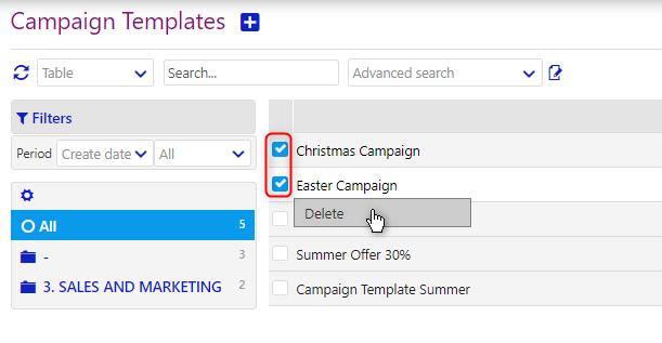 campaign templates | comidor low-code bpm platform
