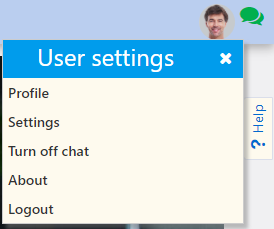 User settings | Comidor Platform