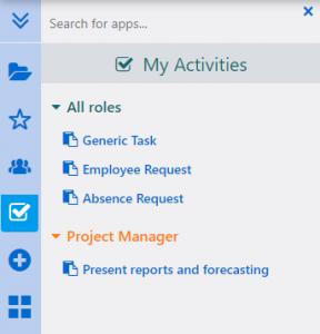 My Activities | Comidor Platform