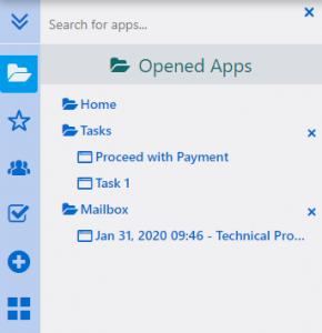 Opened Apps | Comidor Platform