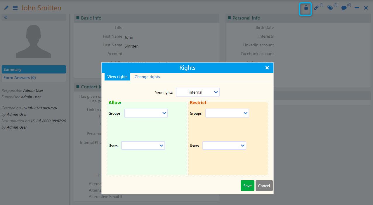 Rights   Comidor Platform