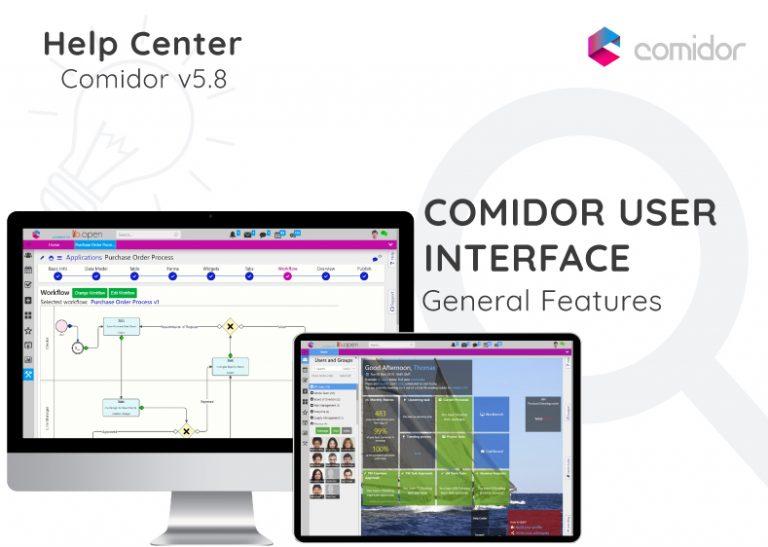 Comidor User Interface | Comidor Digital Automation Platform