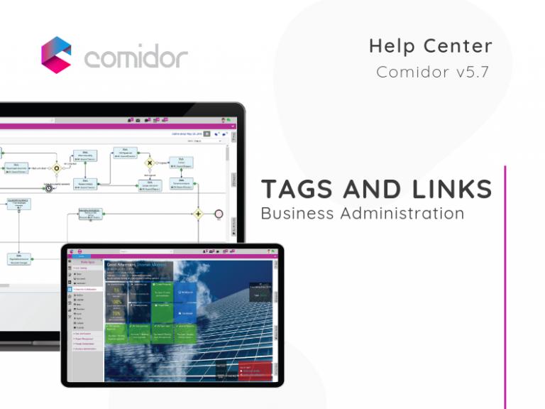 Tags and Links | Comidor Low-Code BPM Platform