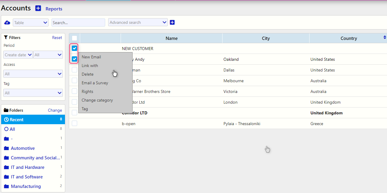 Accounts Reports/Comidor Digital Automation Platform