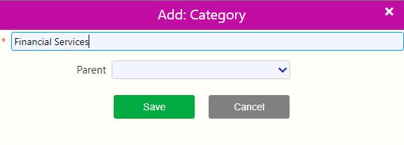add category / Comidor Digital Automation Platform