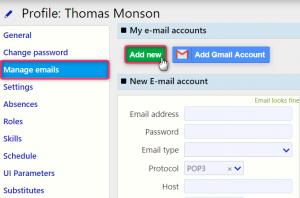 add new email | Comidor Digital Automation Platform