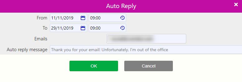 auto reply | Comidor Digital Automation Platform