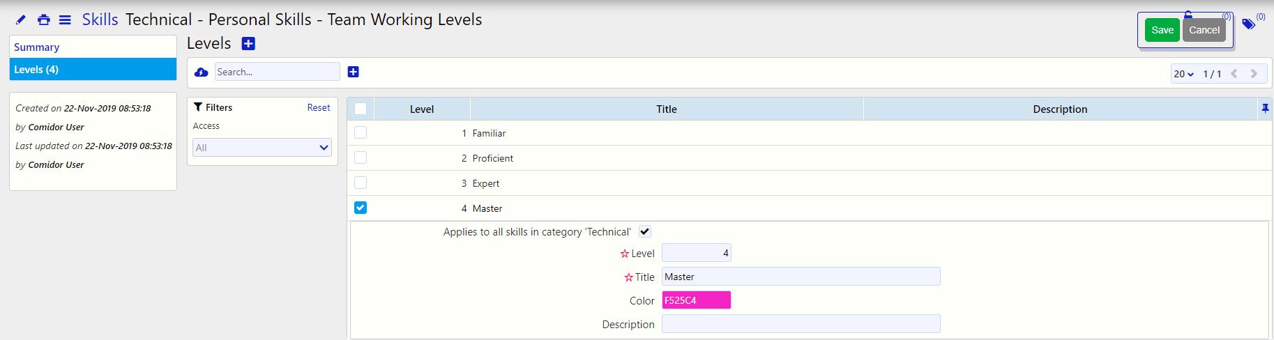 Edit and Manage a Skill _ people management skills / Comidor Digital Automation Platform