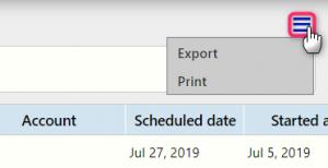 export or print topic | Comidor Digital Automation Platform