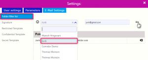 folder filter list | Comidor Digital Automation Platform