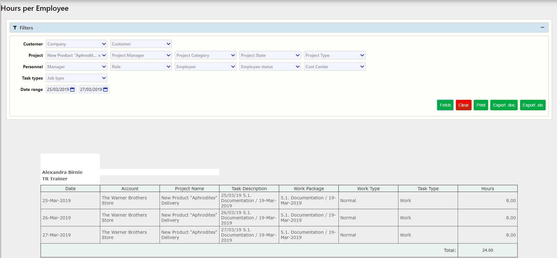 hours per employee / Comidor Digital Automation Platform