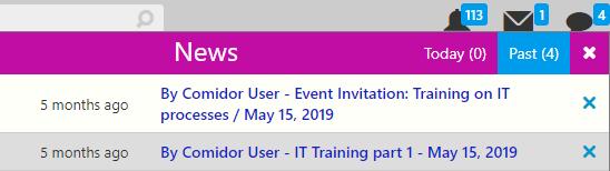 news notification list | Comidor Digital Automation Platform