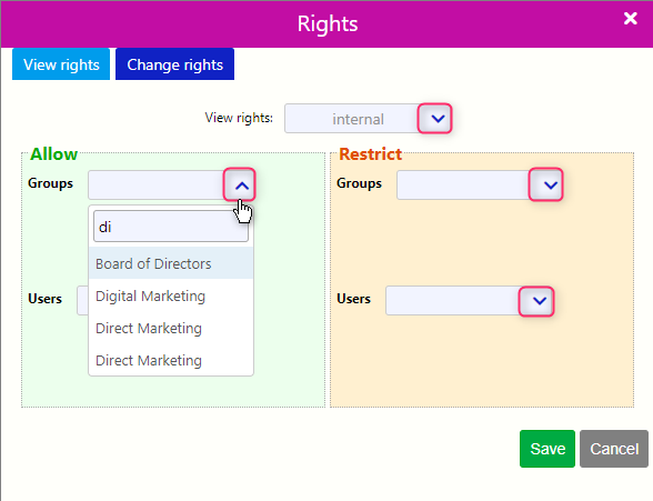 Rights of a Note / Comidor Digital Automation Platform