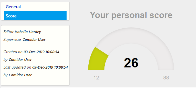 score personal score form designer & form / Comidor Digital Automation Platform