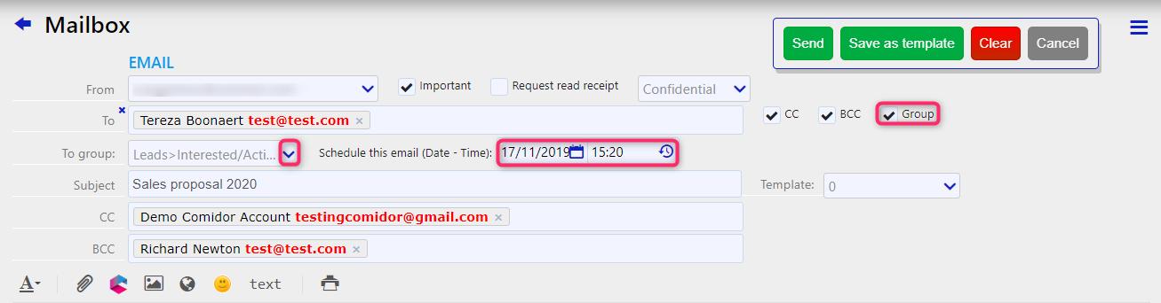 send email | Comidor Digital Automation Platform