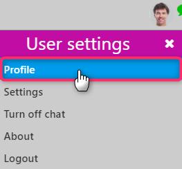 user settings | Comidor Digital Automation Platform