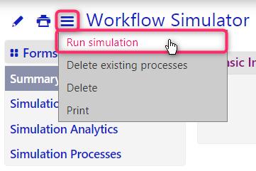 workflow simulator | comidor low-code bpm platform