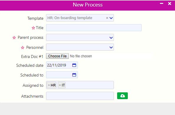quick add process templates   Comidor Digital Automation Platform