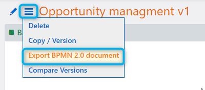 Workflow export | Comidor Platform