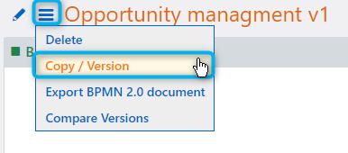 Workflow copy version | Comidor Platform