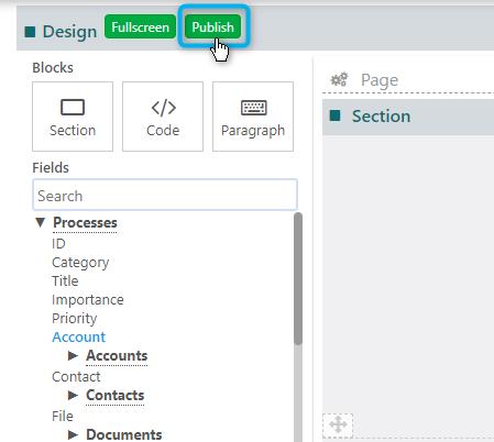 Quick add form Process template | Comidor Platform