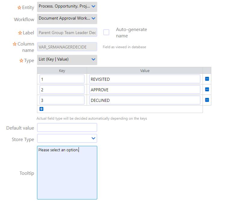 User fields   Comidor Platform