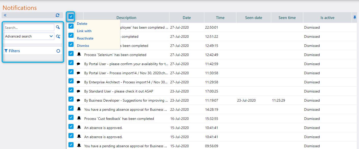 Notifications   Comidor Platform