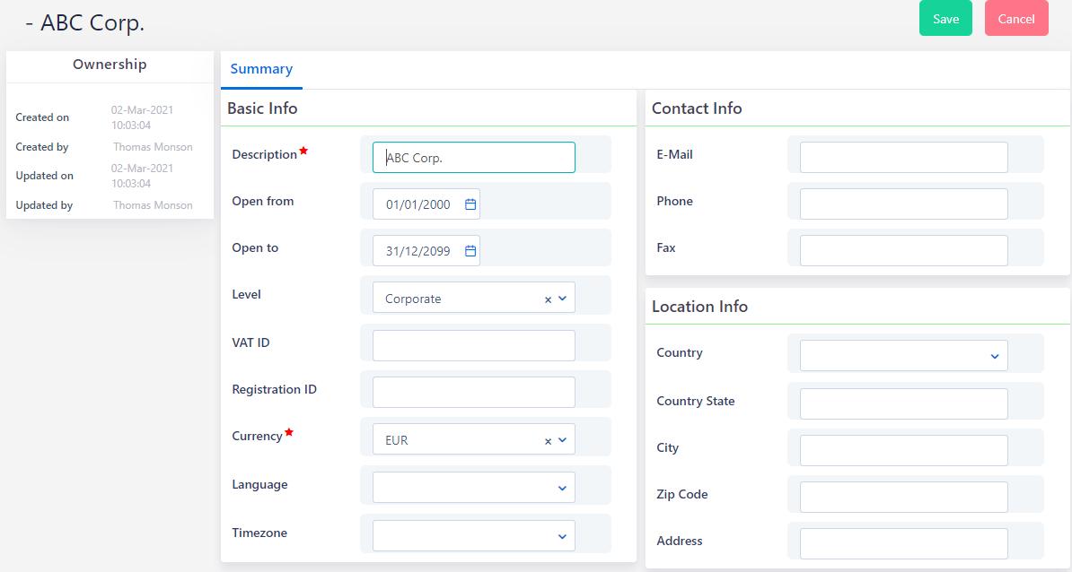 Business Setup Corporate | Comidor Platform