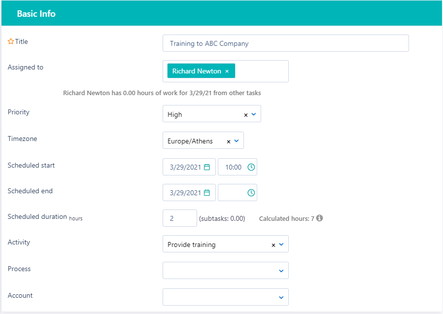 create a task - Basic info v.6| Comidor Platform