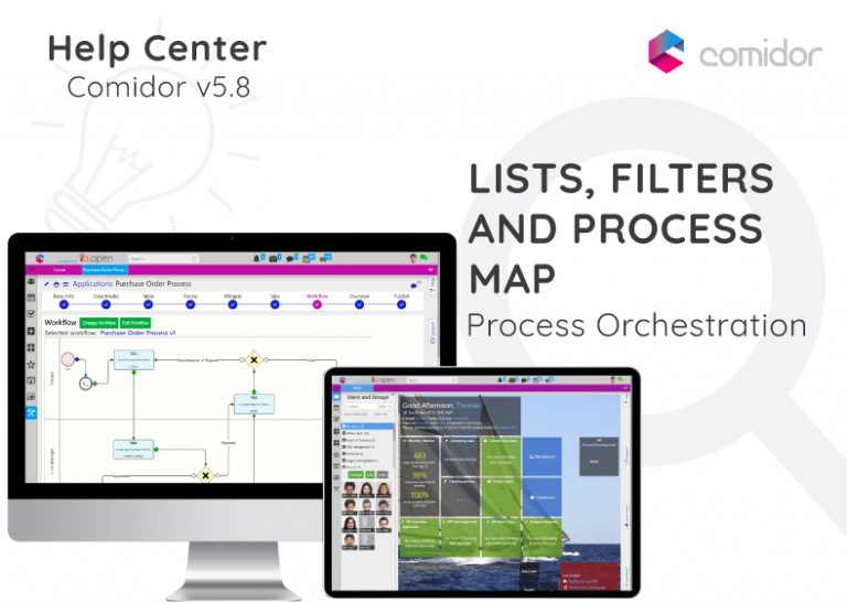 Lists Filters and Process Map | Comidor Digital Automation Platform