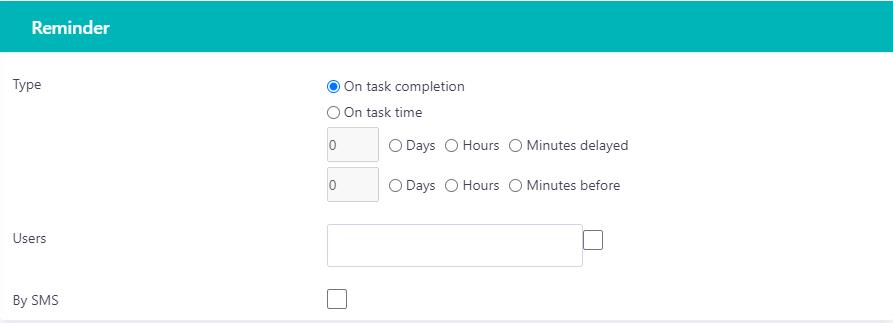 Reminder task v.6| Comidor Platform
