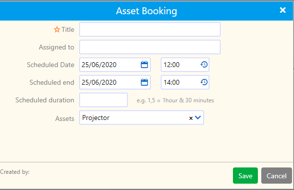 asset booking   Comidor Platform