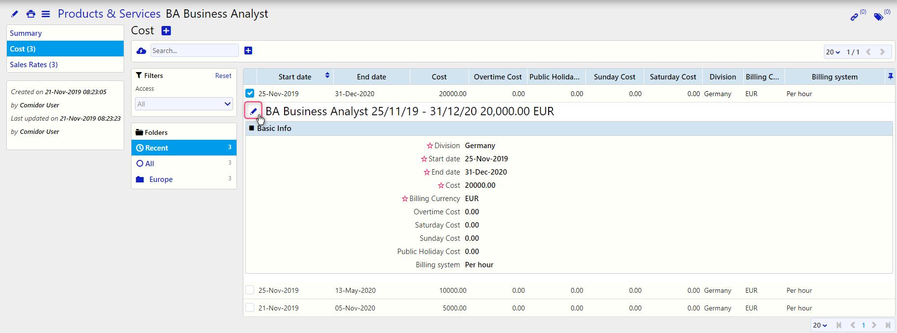 BA Business Analyst / Comidor Digital Automation Platform