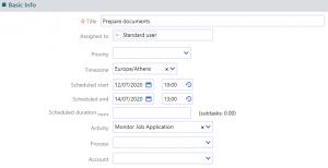 create a task | Comidor Platform