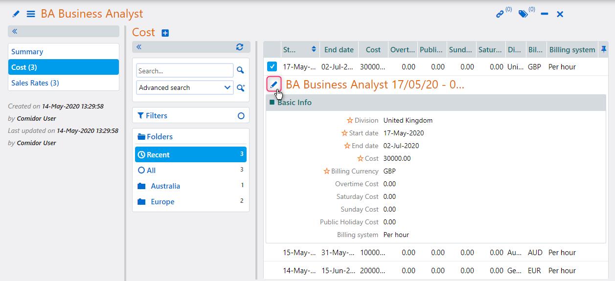 BA Business Analyst   Comidor Platform