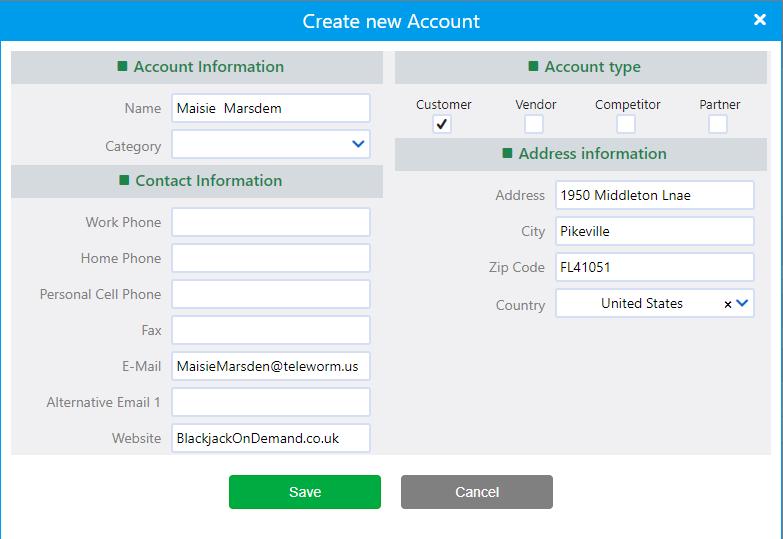 create new account | Comidor Platform
