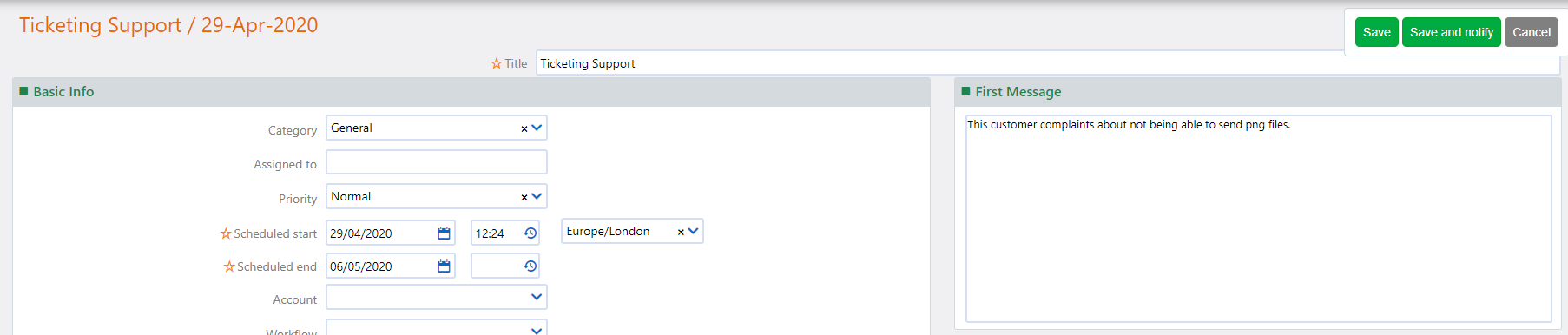 edit ticket   Comidor Platform