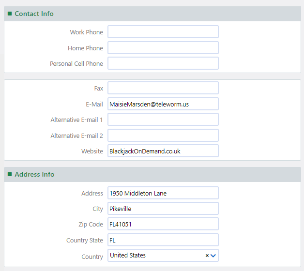 contact info | Comidor Platform
