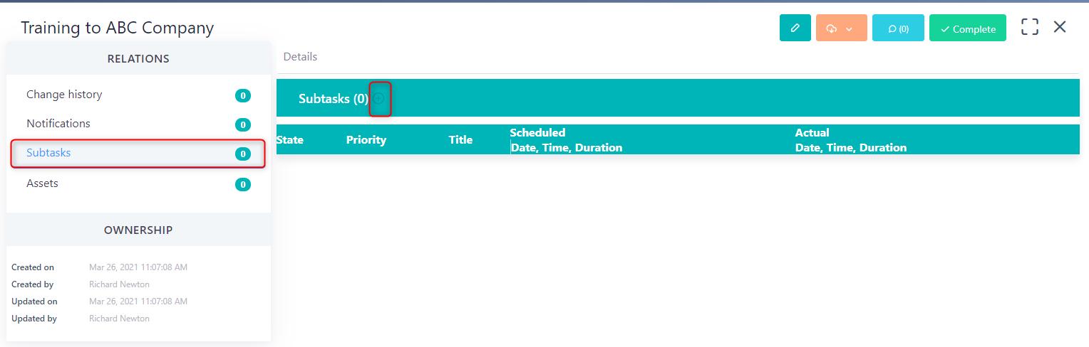 subtasks - task v.6| Comidor Platform
