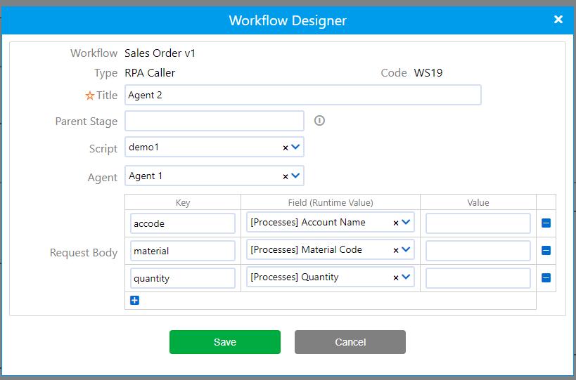 RPA Caller | Comidor Platform