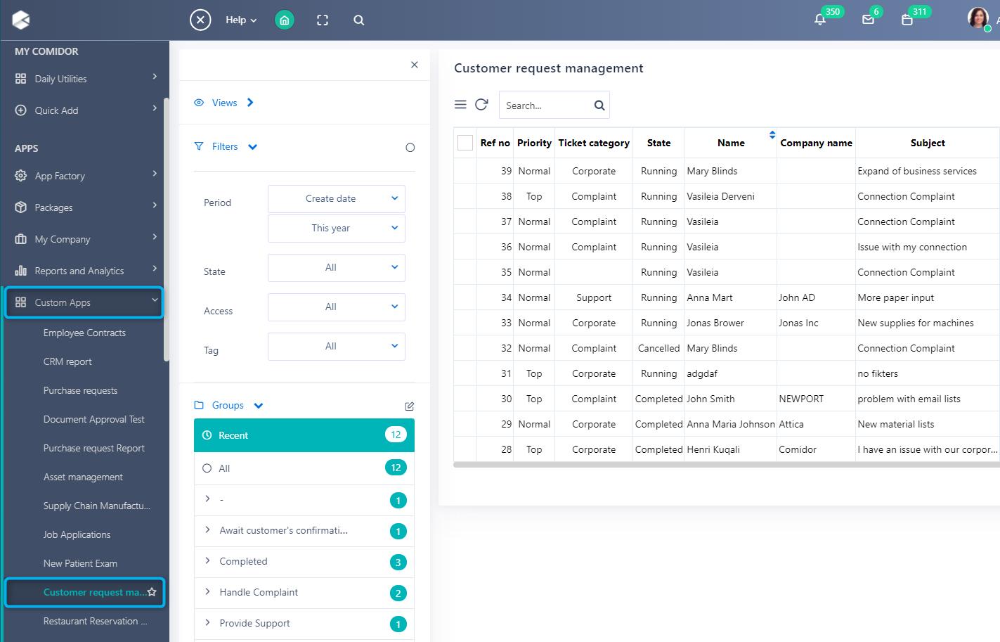 Run App builder | Comidor Platform