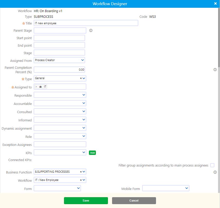 Workflow Subprocess| Comidor Platform
